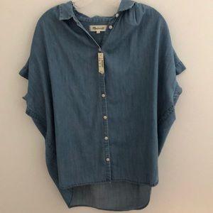 Madewell Chambray Short Sleeve Button Down Shirt